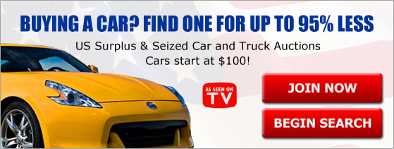 US Gov't Car and Truck Auctions