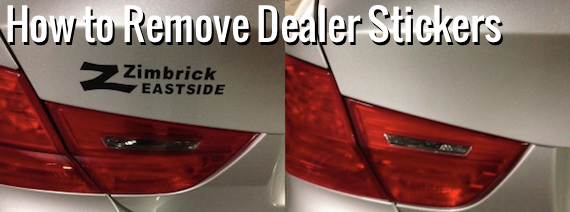 How to remove the dealer sticker from your car