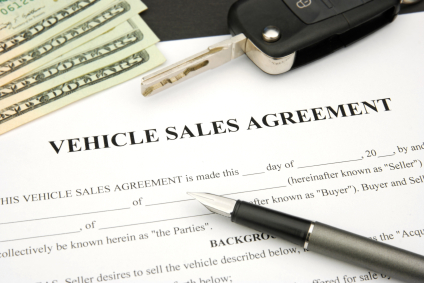 bill of sale when selling a car